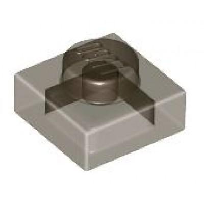 LEGO 1 x 1 Plate Transparent Black