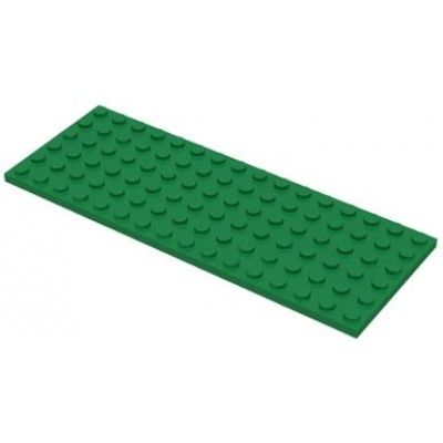 LEGO 6 x 16 Plate Green
