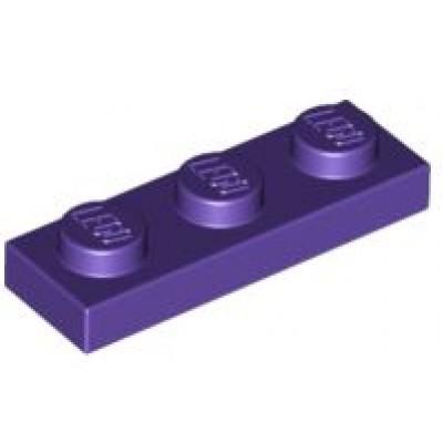 LEGO 1 x 3 Plate Dark Purple