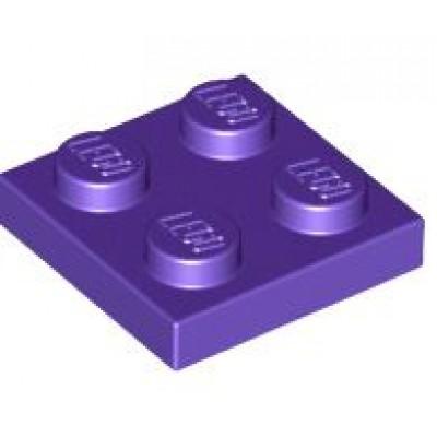 LEGO 2 x 2 Plate Dark Purple