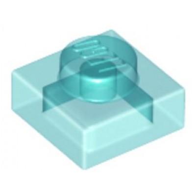 LEGO 1 x 1 Plate Transparent Light Blue