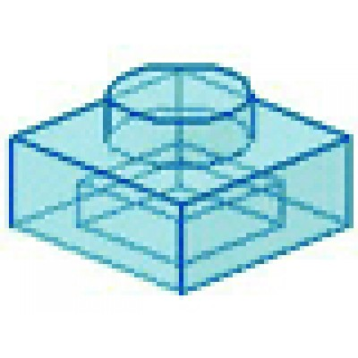 LEGO 1 x 1 Plate Transparent Light Blue