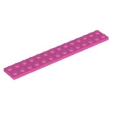 LEGO 2 X 14 Plate Dark Pink