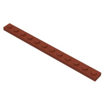 LEGO 1 x 12 Plate Reddish Brown