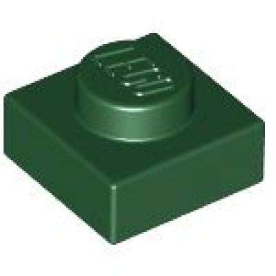 LEGO 1 x 1 Plate Dark Green