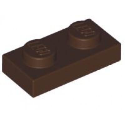 LEGO 1 x 2 Plate Dark Brown