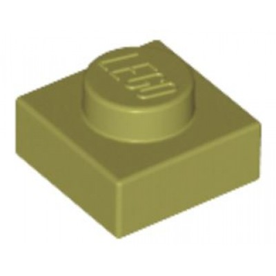 LEGO 1 x 1 Plate Olive Green
