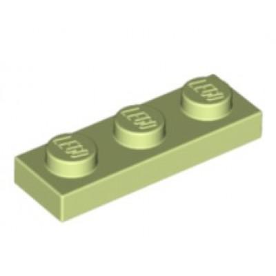 LEGO 1 x 3 Plate - Yellowish Green