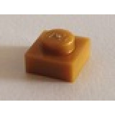 LEGO 1 x 1 Plate Pearl Gold