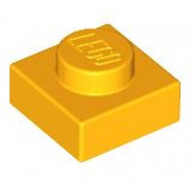 LEGO 1 x 1 Plate Bright Light Orange