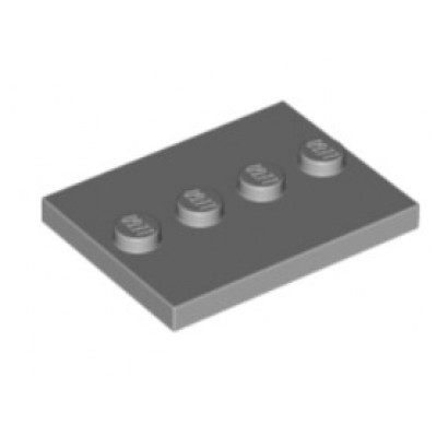 LEGO 3 x 4 Plate Light Bluish Grey (Minifigure Stand)