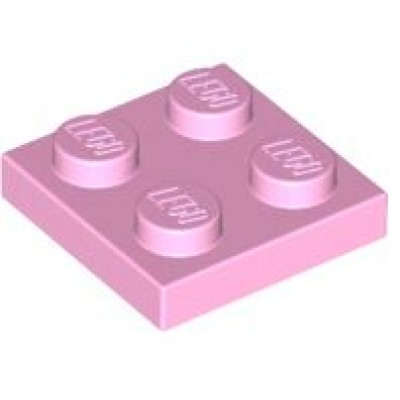 LEGO 2 x 2 Plate Bright Pink