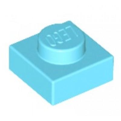 LEGO 1 x 1 Plate Medium Azure