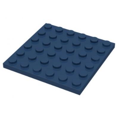 LEGO 6 x 6 Plate Dark Blue
