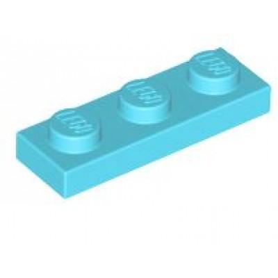 LEGO 1 X 3 Plate Medium Azure