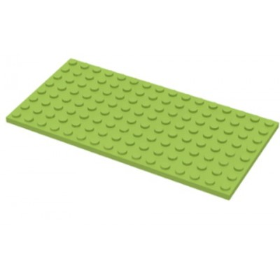 LEGO 8 x 16 Plate LIme