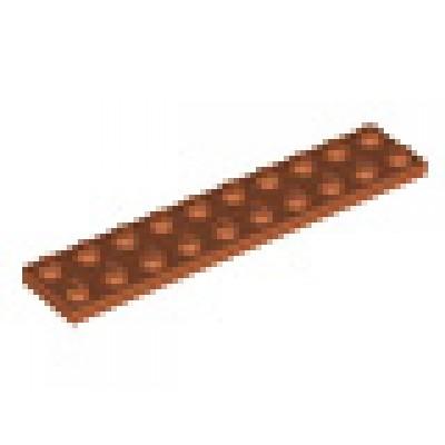 LEGO 2 x 10 Plate Dark Orange