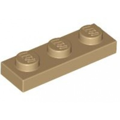 LEGO 1 x 3 Plate Dark Tan
