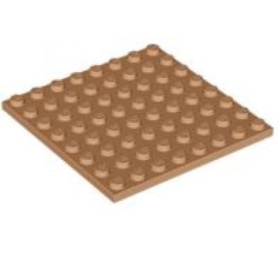 LEGO 8 x 8 Plate Medium Nougat
