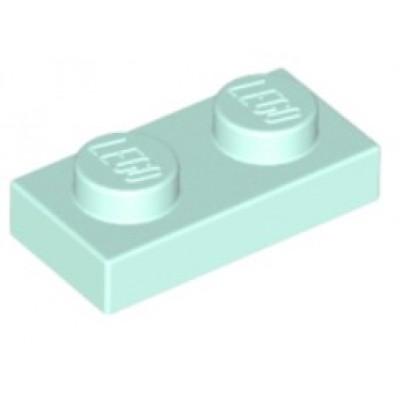 LEGO 1 x 2 Plate Light Aqua
