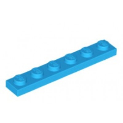 LEGO 1 x 6 Plate Dark Azure