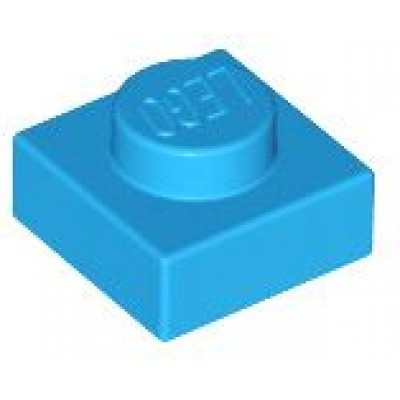 LEGO 1 x 1 Plate Dark Azure