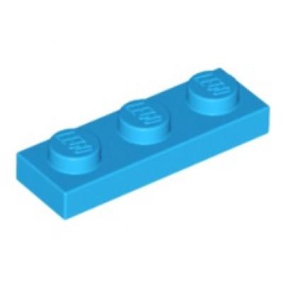 LEGO 1 x 3 Plate Dark Azure