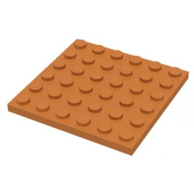 LEGO 6 x 6 Plate Medium Dark Flesh