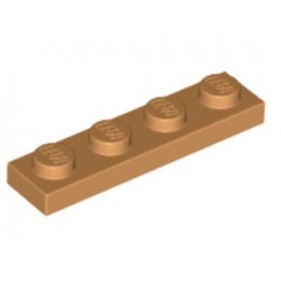 LEGO 1 x 4 Plate Medium Nougat