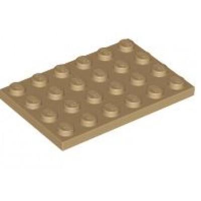 LEGO 4 x 6 Plate Dark Tan