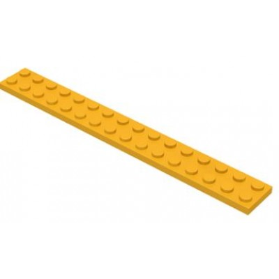 LEGO 2 x 16 Plate Bright Light Orange