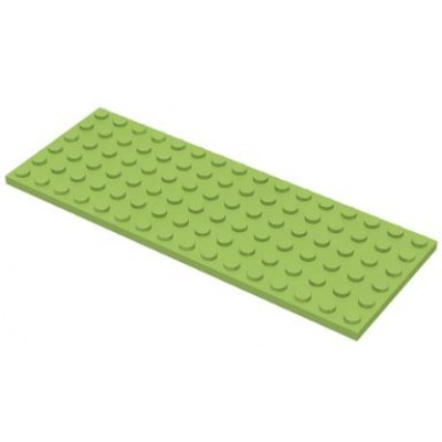 LEGO 6 x 16 Plate Lime