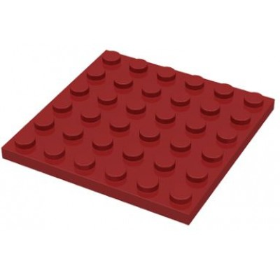 LEGO 6 x 6 Plate Dark Red