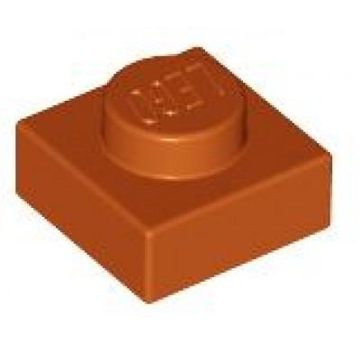 LEGO 1 x 1 Plate Dark Orange