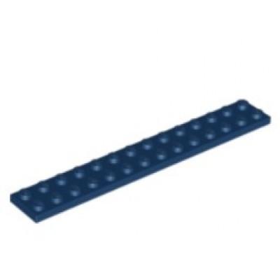 LEGO 2 X 14 Plate Dark Blue