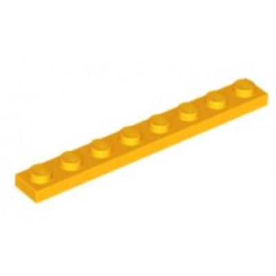 LEGO 1 x 8 Plate Bright Light Orange
