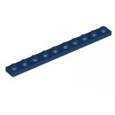 LEGO 1 x 10 Plate Dark Blue