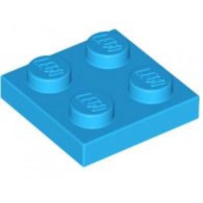 LEGO 2 x 2 Plate Dark Azure