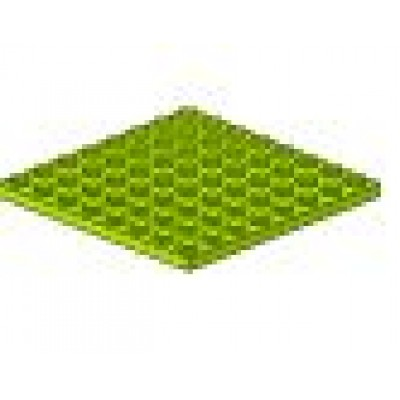 LEGO 8 x 8 Plate Lime