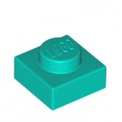 LEGO 1 x 1 Plate Dark Turquoise
