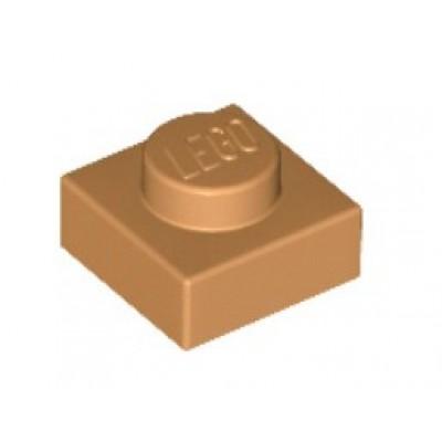 LEGO 1 x 1 Plate Medium Nougat