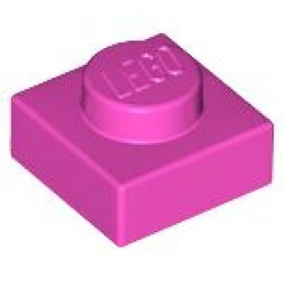 LEGO 1 x 1 Plate Dark Pink