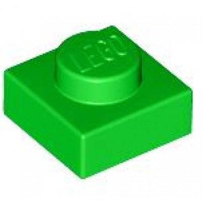 LEGO 1 x 1 Plate Bright Green