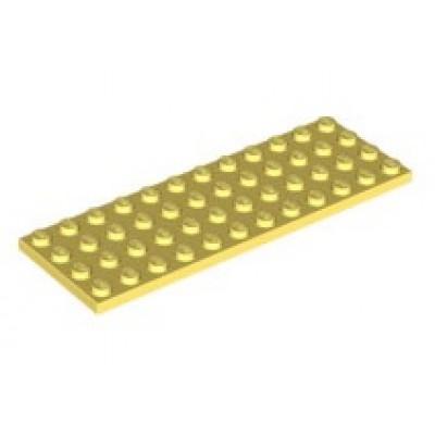 LEGO 4 x 12 Plate - Bright Light Yellow