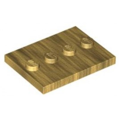 LEGO 3 x 4 Plate Pearl Gold (Minifigure Stand)