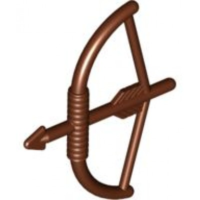 LEGO Bow  with Arrow (Reddish Brown)