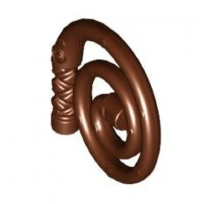 LEGO Whip Coiled Reddish Brown