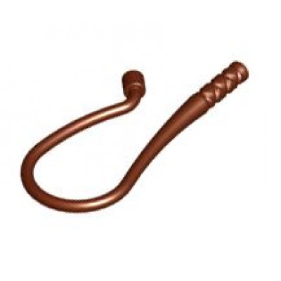 LEGO Whip, Bent (Reddish Brown)