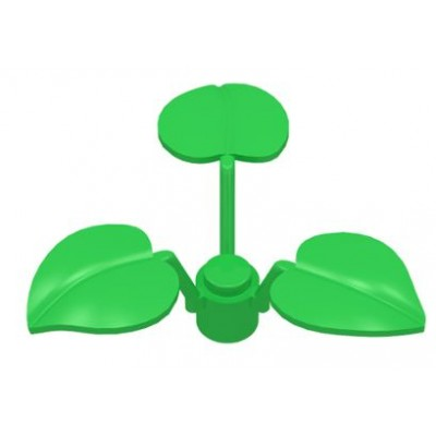 LEGO Leaves (3 elements) Bright Green