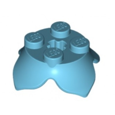 LEGO Flower 4 Petals Base - Medium Azure
